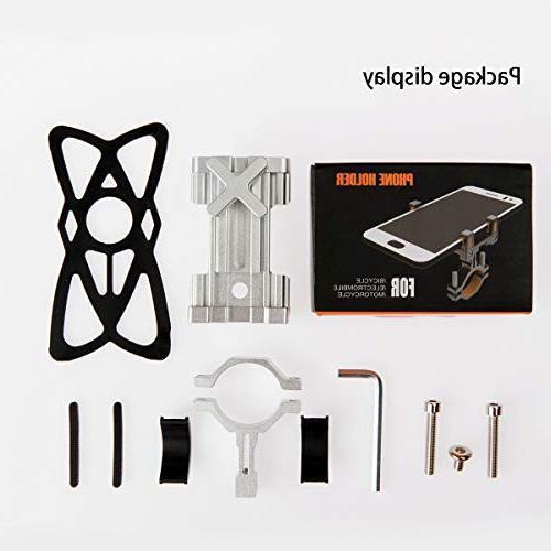 SpoLite Mount Motorcycle-Bike-Bicycle Handlebars,Adjustable,Bike Phone Phone iPhone X,8|8 Plus,6s|6s S7,S6 for Cycling