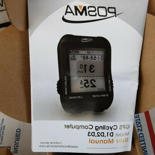 D3 GPS Cycling Bike Speedometer with