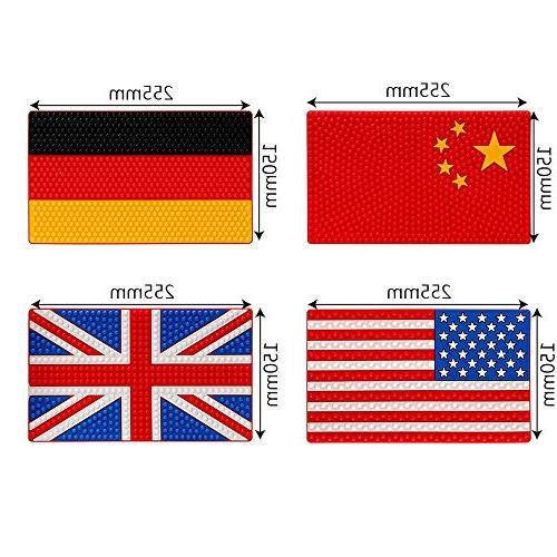 Daphot-Store 26x15.5cm Non-Slip Pad China Germany Coin Key Slip Mat