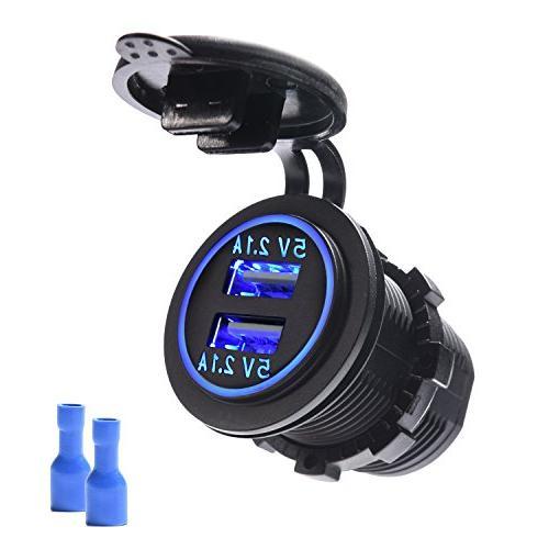 dual usb car charger 4