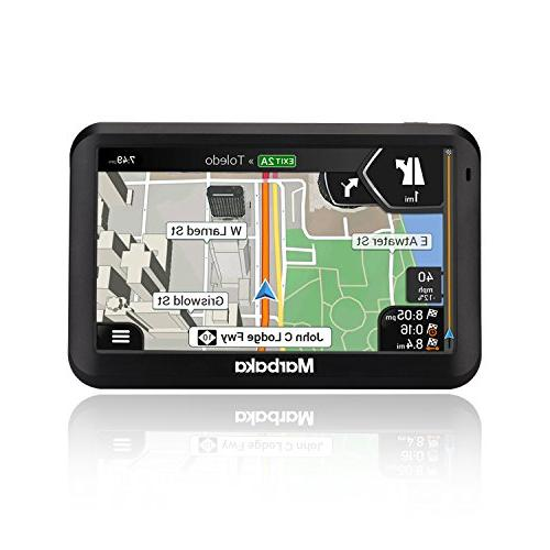 GPS 5-inch display GPS System North map, Update,Fast Voice Trun-By-Turn Reminder