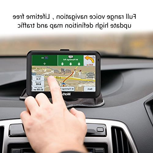 GPS Navigation for car, 5-inch System Preloaded America map, Update,Fast Route Speed Limit Reminder