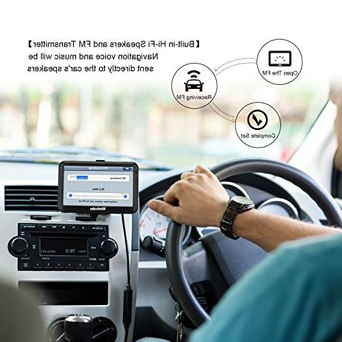 GPS Navigation 5-inch display Navigation System America map, Free Lifetime Map Update,Fast Route Guidance, Reminder
