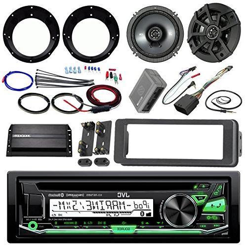 JVC KDR99MBS Receiver Kicker Speaker + Motorcycle Amp 98-13 Handle Conroller + Antenna