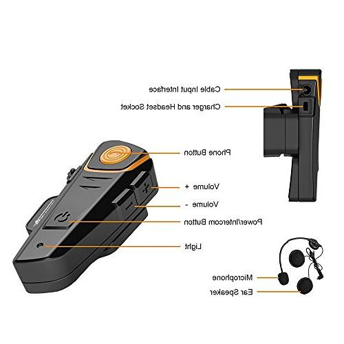 AUTOLOVER 1000M Headset, Motorcycle Interphone MP3 player/GPS/Walkie-Talkie, Hands & radio