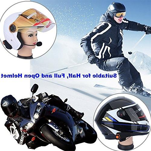 AUTOLOVER 1000M Motorbike Headset, Interphone and MP3 player/GPS/Walkie-Talkie, Free &