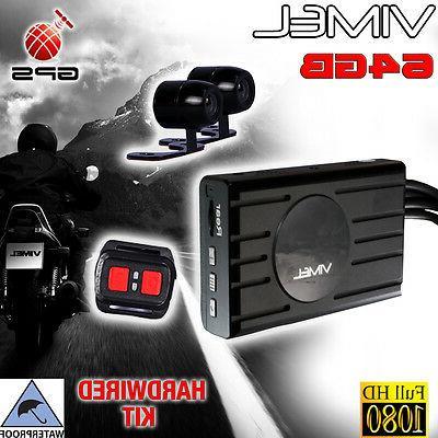 motorbike camera 64gb gps motorcycle 1080 twin