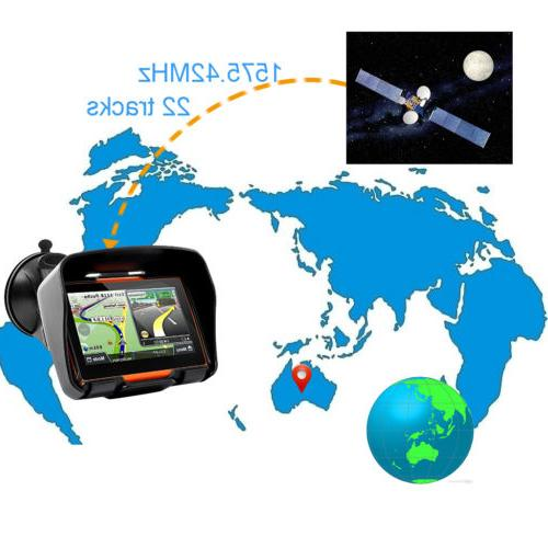 "Motorcycle 4.3"" GPS Touch Waterproof"