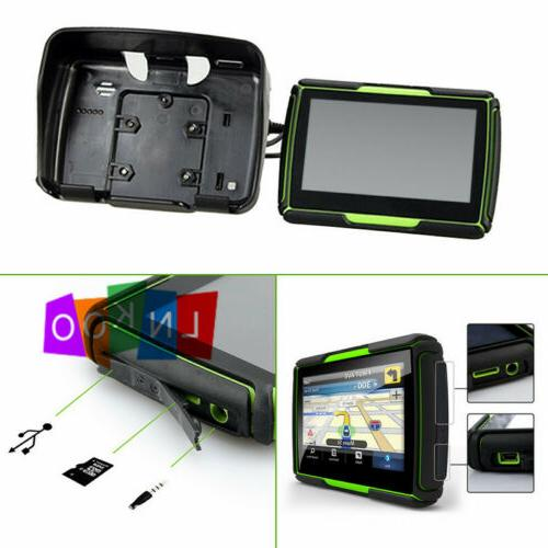 Motorcycle Touch Screen Bluetooth Car Navigation Sat Nav Green