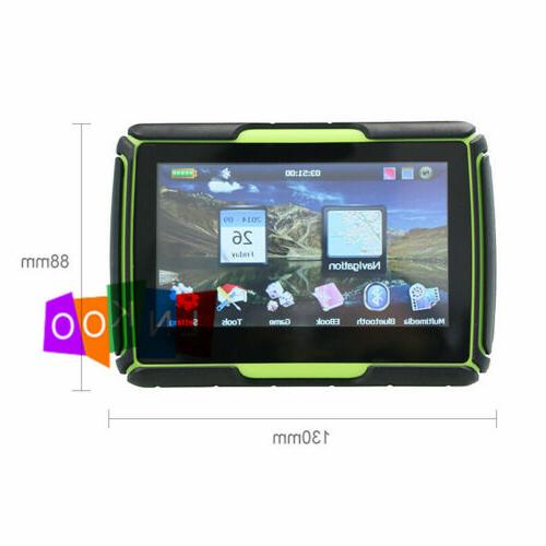 "Motorcycle 4.3"" Touch Bluetooth GPS Sat 8GB Green"