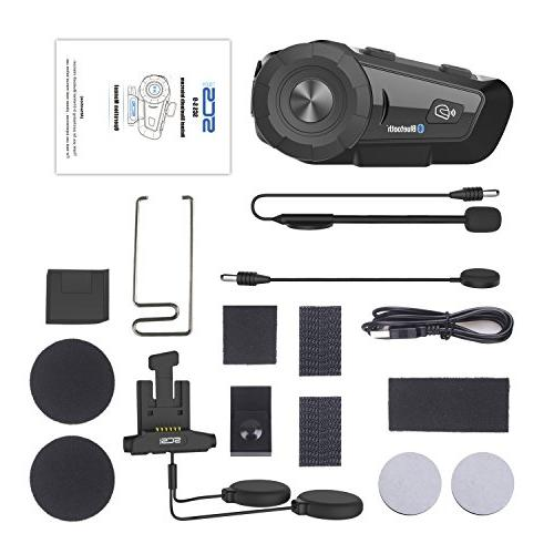Motorcycle Helmet Headset - S-9 Kit, Group Intercom, Voice with Speakers Headphones