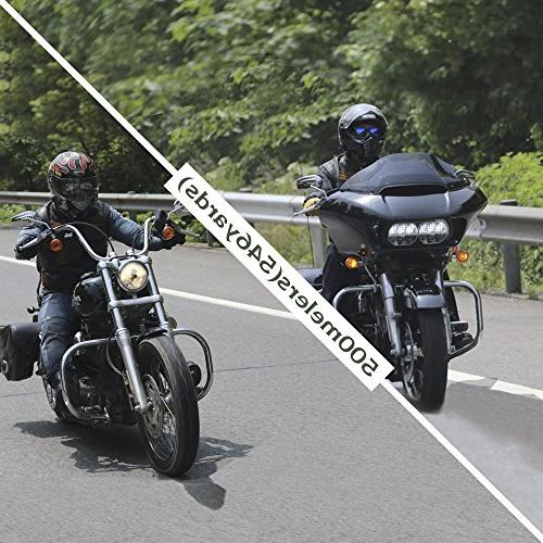 Motorcycle Bluetooth Headset S-9 Communication Kit, Supports 6 Group Intercom, Voice Command with Headphones for Skiing