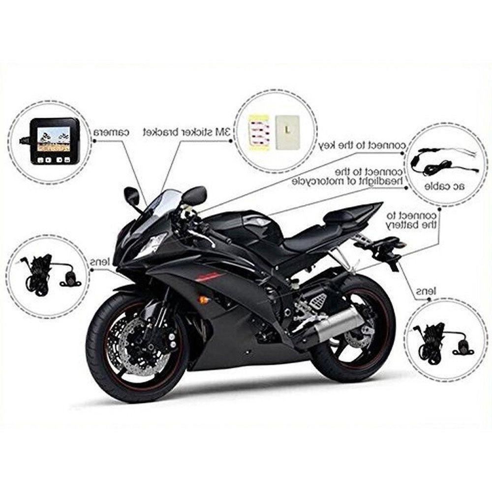 Motorcycle Camera Motorbike Dash Cam Video Angle Camcorder+GPS