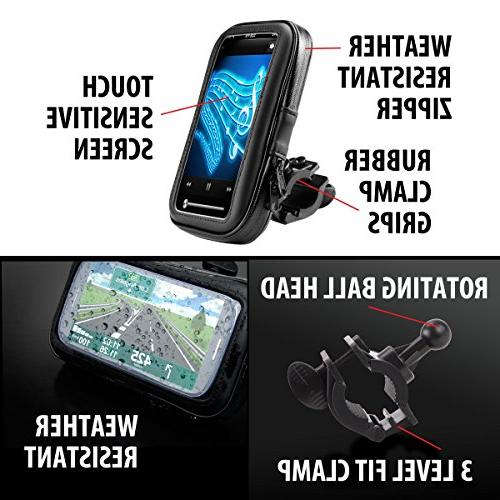 Handlebar Case w/ Degree Viewing for 42LM / 40LM / 660LM, eXplorist, TomTom RIDER & Phones
