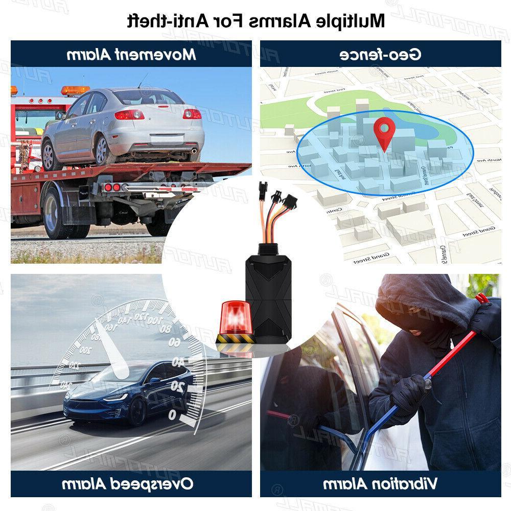 Motorcycle Tracker 4G Real Vehicle Cut SOS Locator Free