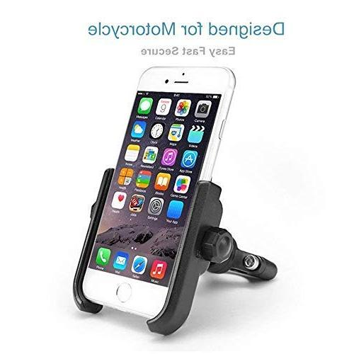 "ILM Mount Aluminum Bicycle Cell Phone Accessories iPhone X Xs, 7 | | 8 6s | Galaxy S7, S6, Holds Phones 3.7"" Wide"