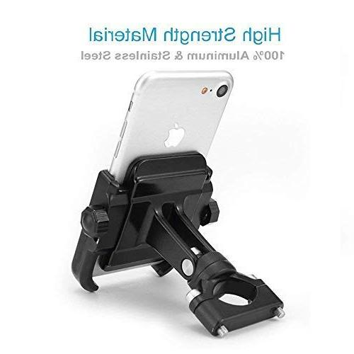 "ILM Mount Aluminum Bicycle Phone Holder iPhone X 7 | 7 Plus, | 6s Galaxy S7, S6, Holds to 3.7"" Wide"