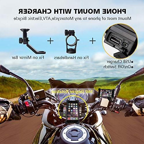 Motorcycle with Port Install Bar, Leepiya Cell X 8 7 5 S8 and