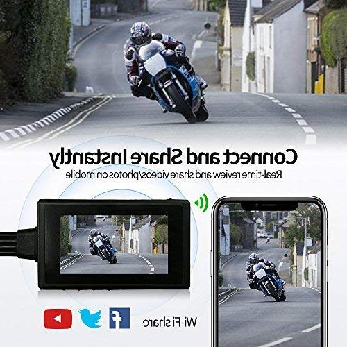 "Motorcycle by Lens Rear View Camera, Waterproof Lens, Video Driving Recorder 2.7"" Angle, Max"