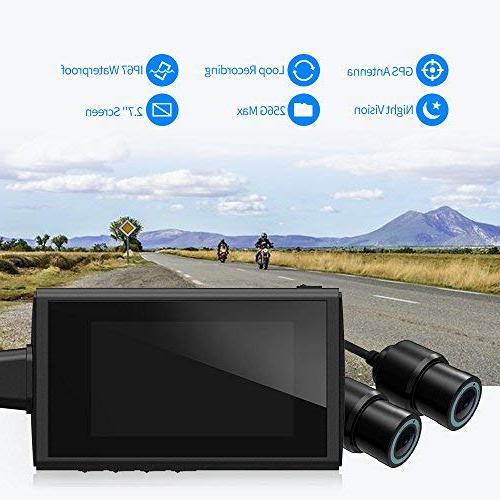"Motorcycle by HaloCam, Lens Rear Sports Camera, Waterproof Lens, Video Driving Recorder 2.7"" LCD, 155 Degree Angle, 256G Max"