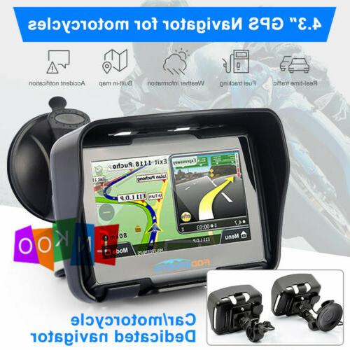 Motorcycle Car GPS Sat Nav Waterproof 8GB