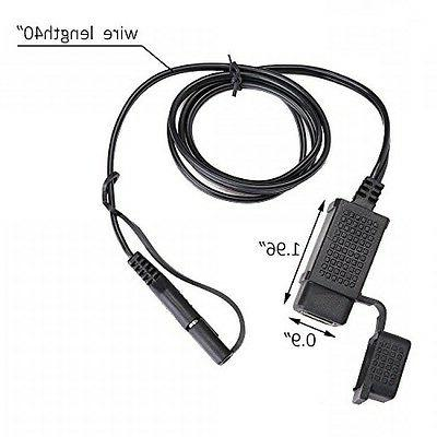 MICTUNING SAE to Cable Adapter 2.1A Port Power for Motorcycle