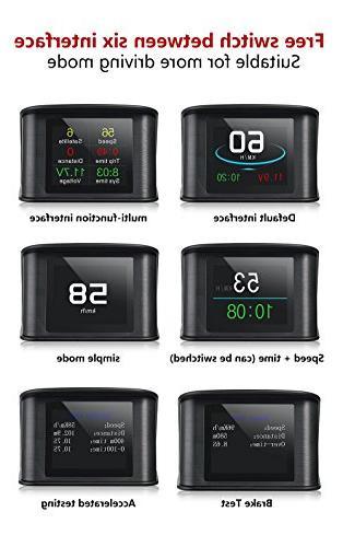 TIMPROVE T600 HUD Head Digital Speedup Test Overspeed Alarm TFT Display for All