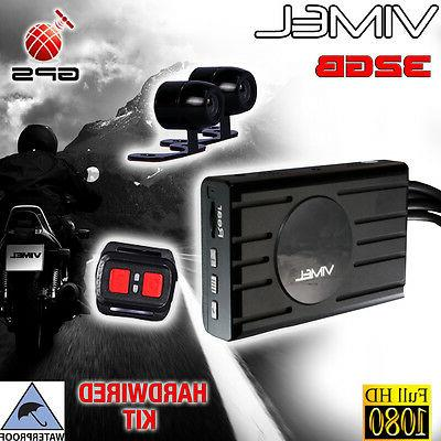 twin bike camera motorcycle gps 1080 dual