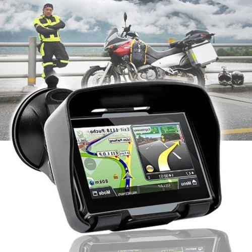 "4.3"" Waterproof Motorcycle Nav Car Bike Navigation System 8GB"