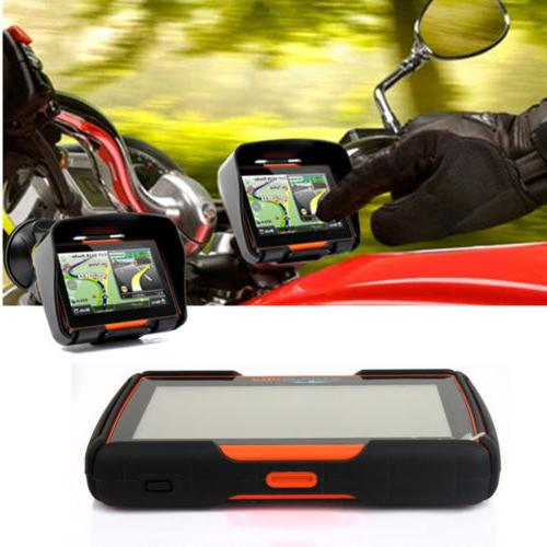 "4.3"" GPS Bluetooth Motorcycle Sat Nav Car Bike System"