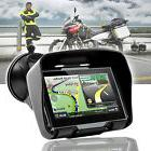 "4.3"" Waterproof GPS Bluetooth Motorcycle Sat Nav Car Bike Na"
