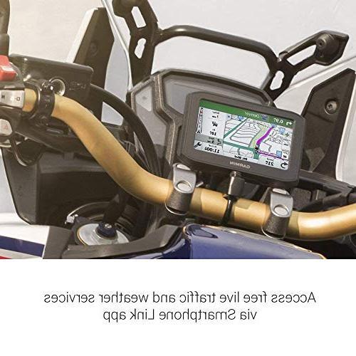 Garmin Zumo 396 Motorcycle GPS with RAM-B-367U Motorcycle Handlebar Clamp 010-02019-00