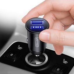 TORRAS Full Metal Car Charger, 4.8A 24W Flush Fit Dual USB P
