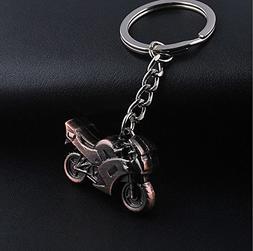 1 Pc Mini Pocket 3D Metal Model Motorcycle Keychain Keyring