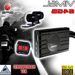 motorbike camera 64gb gps motorcycle 1080 twin