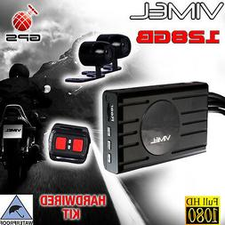 Motorbike Camera Dual Motorcycle GPS Super Capacitor Twin Ca