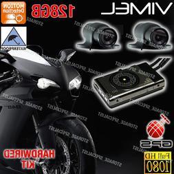 MotorBike camera Motorcycle Dash Car GPS Waterproof Dual Har