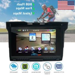 Motorbike Touch Screen GPS Motorcycle Car Navigation 5.0 BT