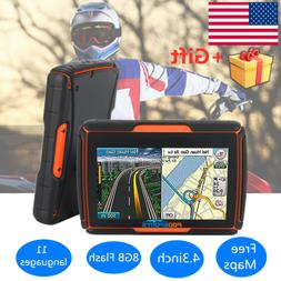 "Motorcycle 4.3"" GPS Touch Screen Car GPS Navigation Waterpro"