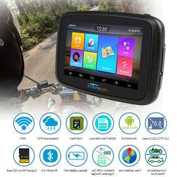 """Motorcycle Android 6.0 GPS Navigator 5.0"""" Car Navigation Sat"""