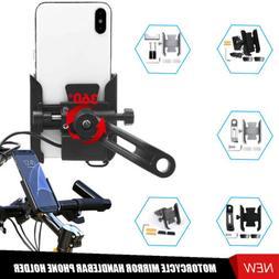 Motorcycle ATV MTB Handlebar 22mm Mirror Mount Mobile Cell P
