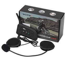 Motorcycle Bluetooth Intercom Headset 1200M Full Duplex Two