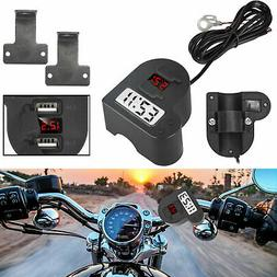 Motorcycle Handlebar Dual USB Phone GPS Charger Adapter With