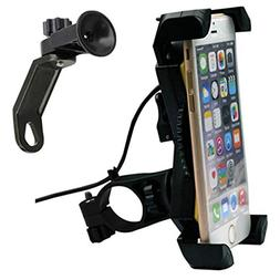 Motorcycle Phone Mount with USB Charger Port,DHYSTAR Bike Mo
