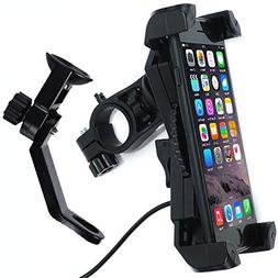 Motorcycle Phone Mount with Charger 5V 2.4A USB Port Install