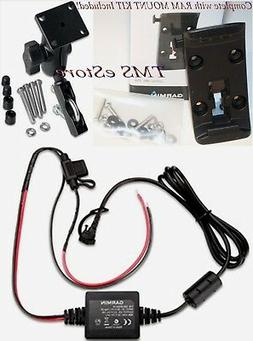 Motorcycle Mount, Cradle & Power Cord for Garmin Zumo 350LM