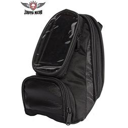 Motorcycle Tank Bag with Clear Window for GPS or Cell Phone