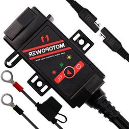 MOTOPOWER MP0608 3.1Amp Motorcycle Dual USB Charger SAE to U