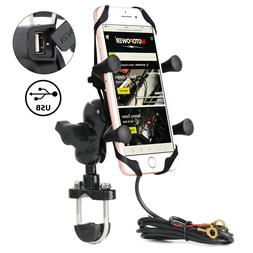 MOTOPOWER MP0609D Motorcycle Cell Phone Mount GPS Holder wit