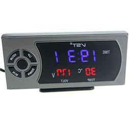 WINOMO Multi-Function 12V Digital Clock Thermometer Voltmete
